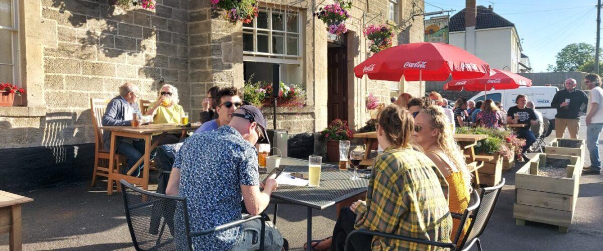 Hemington pub customers